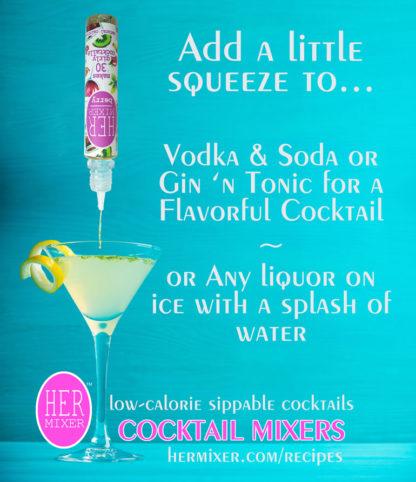 HERmixer Shelf Talker - Low Calorie Cocktail Mixers