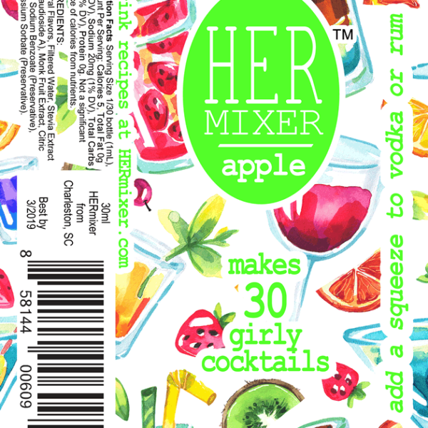 HERmixer Cocktail Mixers - Apple Label
