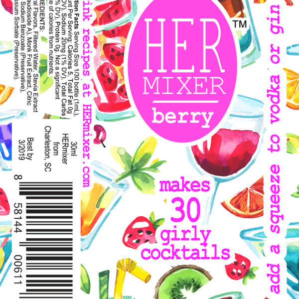 HERmixer Cocktail Mixers - Berry Label