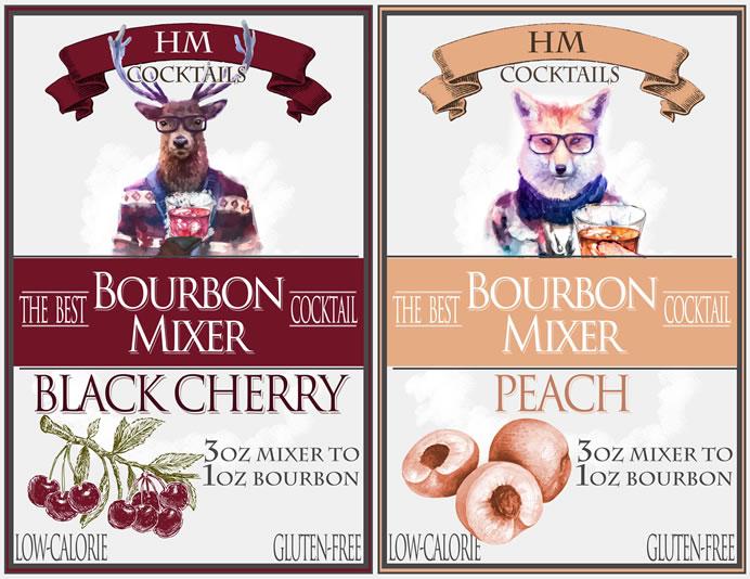 HM Cocktails - The Best Bourbon Mixer Cocktail - Peach & Black Cherry