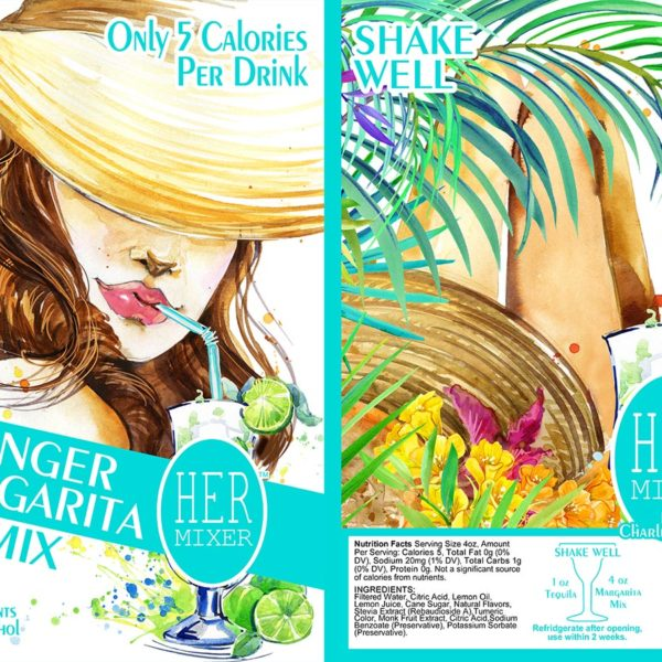 HERmixer Low Calorie & Natural Ginger-Margarita Mix