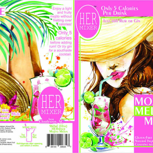 HERmixer Low Calorie & Natural Mojito Melon Mix