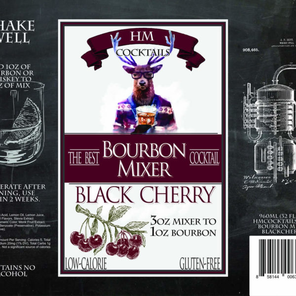 HM Cocktails Bourbon Mixer - Black Cherry by HERmixer
