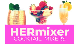 HERmixer - Low Calorie Cocktail Mixers for Vodka, Gin, Rum, Tequila, Bourbon & Whiskey