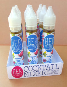 HERmixer Cocktail Mixers 9 Pack - Vanilla for Vodka, Gin, Tequila, Rum, Whiskey, Bourbon, Champagne and Sparkling Water