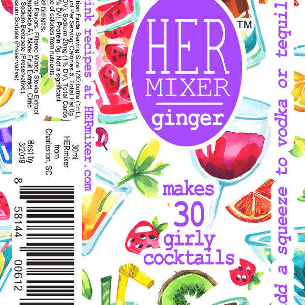 HERmixer Cocktail Mixers - Ginger Label