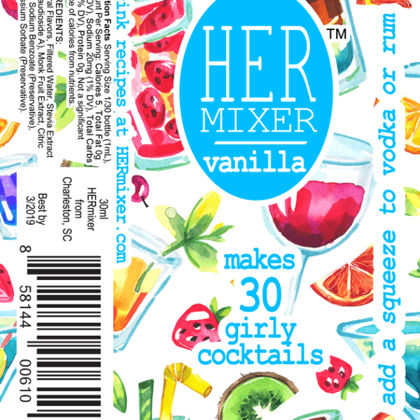 HERmixer Cocktail Mixers - Vanilla Label
