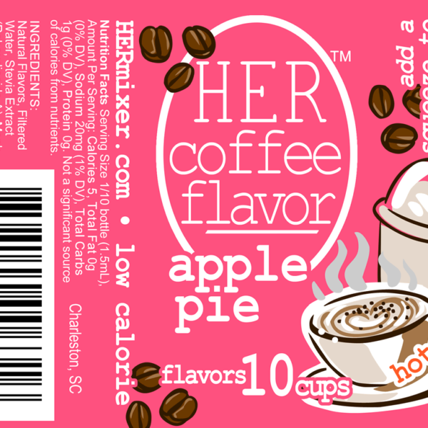 HER Coffee Flavor in low-calorie Apple Pie label