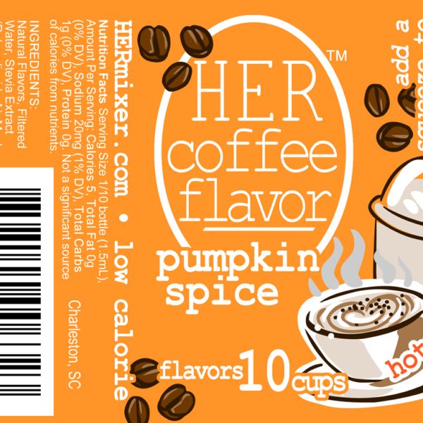 HER Coffee Flavor in low-calorie Pumpkin Spice label