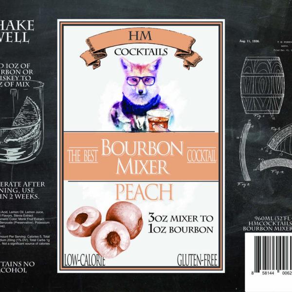 HM Cocktails Bourbon Mixer - Peach by HERmixer
